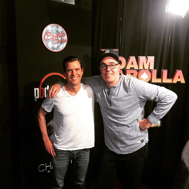 Stutts after his interview with Adam Carolla