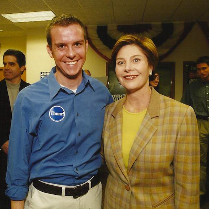 Stutts with former First Lady Laura Bush