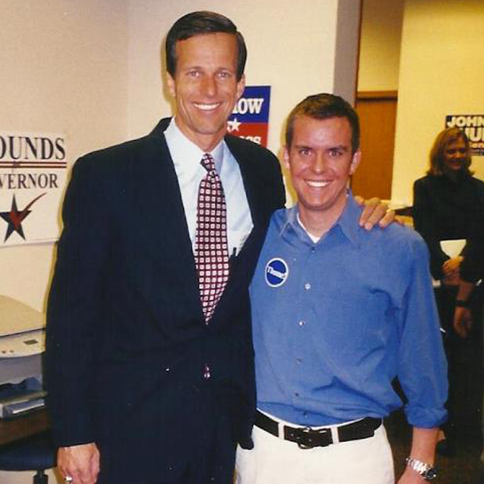 Stutts with U.S. Senator John Thune