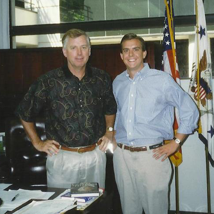 Stutts with former Vice President Dan Quayle