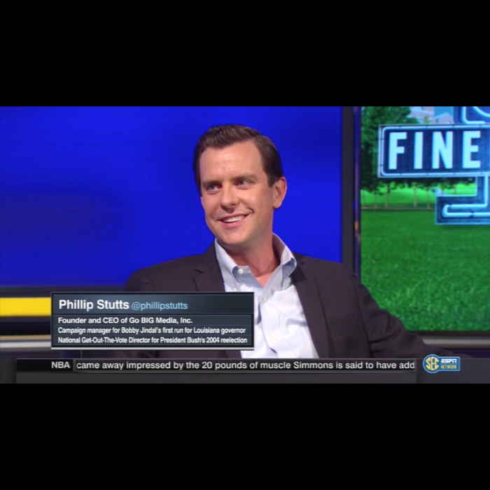 Stutts appearing on ESPN
