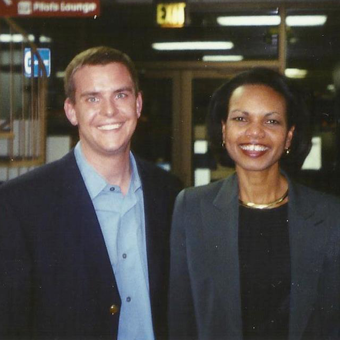 Stutts with former Secretary of State Condoleezza Rice