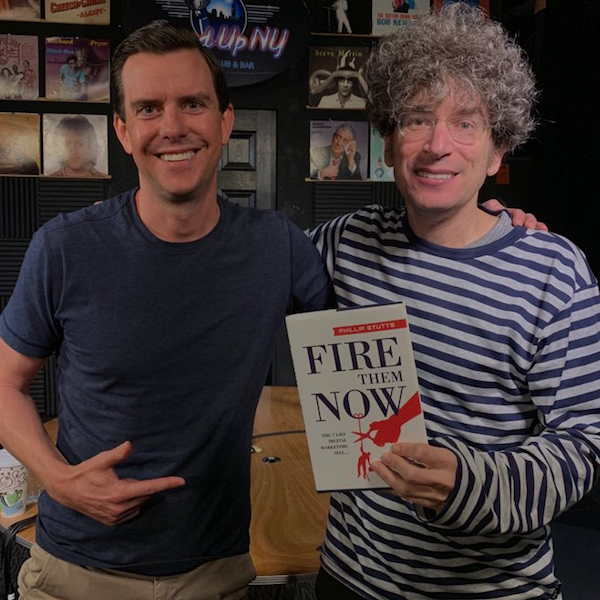 Stutts with James after recording The James Altucher Show