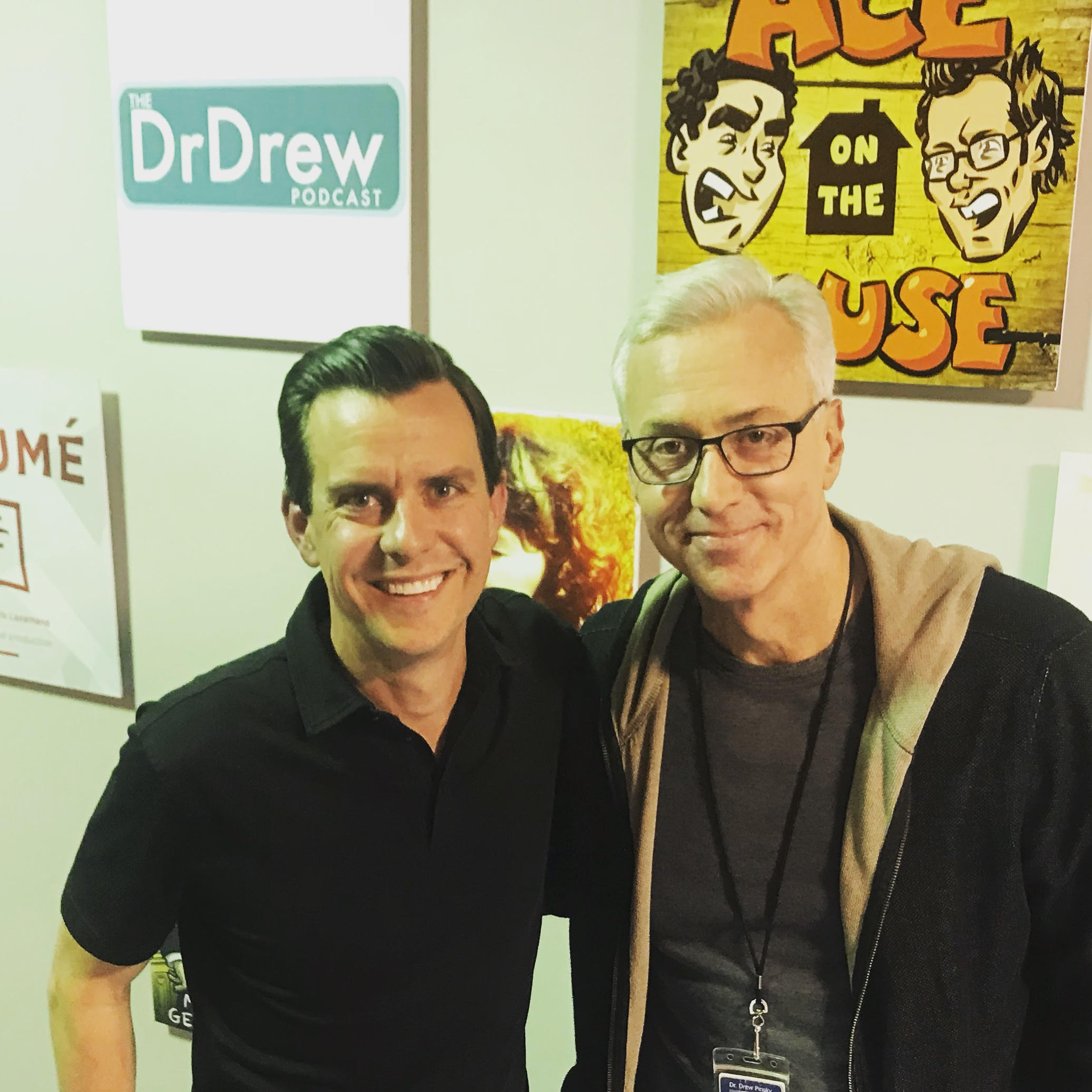 Stutts with Dr. Drew after recording The Dr. Drew Podcast