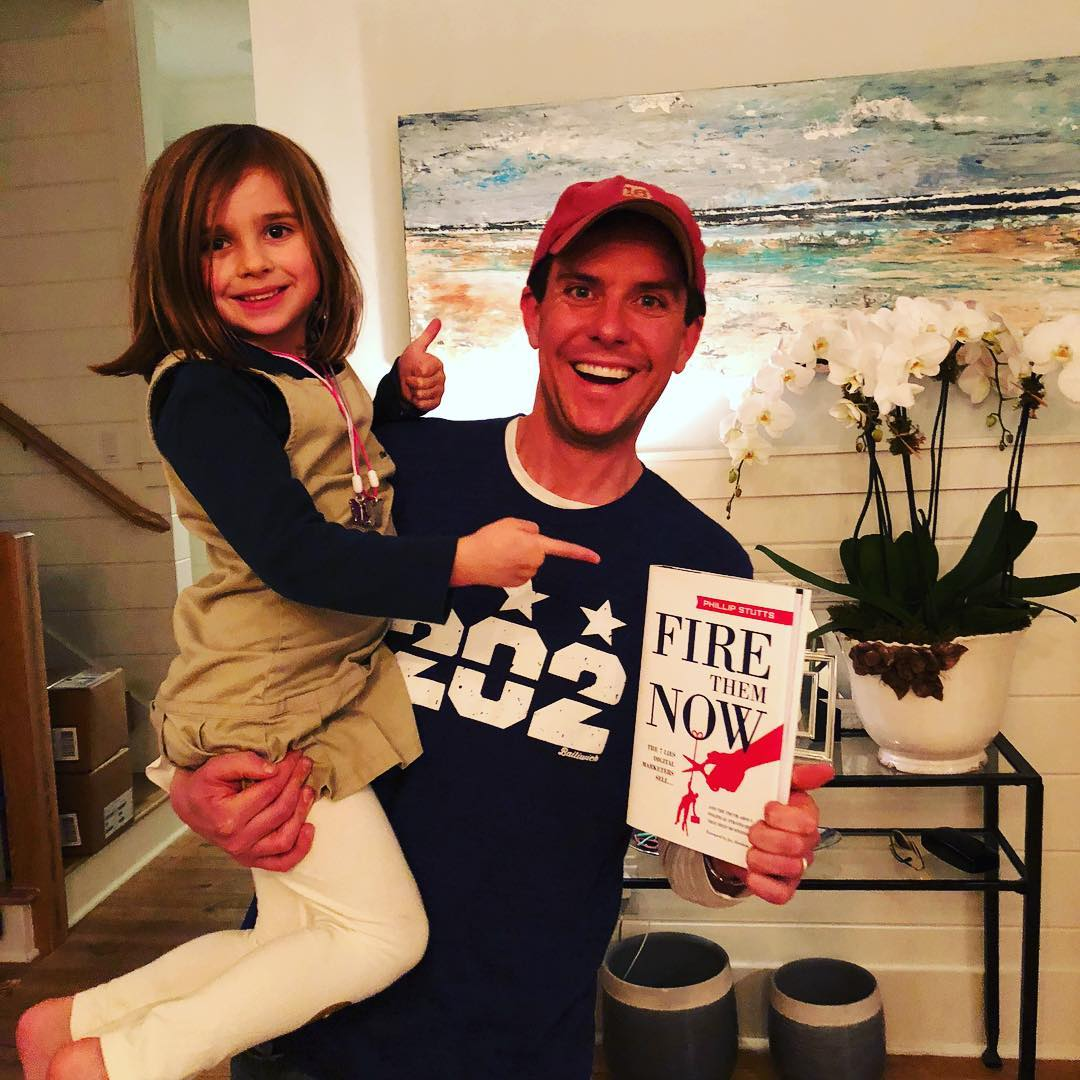 Stutts and his daughter excited about the book release!